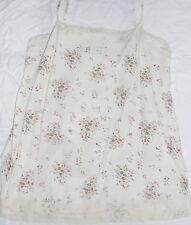 Evie Floral Camisole beige cream flower cotton cami strappy vest top Size 16 vgc