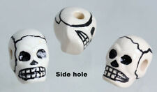 White Skull Beads     Side hole   Day of the dead, Gothic,Crafts & Jewellery X10