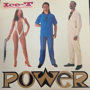 ICE-T-POWER-ORIGINAL 1988 SIRE 257-65-1 VINYL-EXPLICIT LYRICS-PROMO-RARE