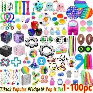 1-100PC Simple Dimple Fidget Sensory Toys Zappeln Spielzeug Set Stressabbau ADHS