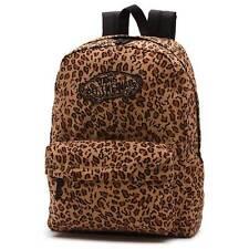 VANS The Realm Backpack (NEW) Leopard ANIMAL PRINT Cheetah SCHOOL BAG Free Ship