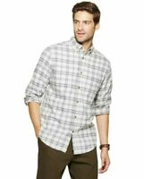 Goodfellow & Co Men's Standard Fit 1-Pocket Flannel Long Sleeve Gray Small