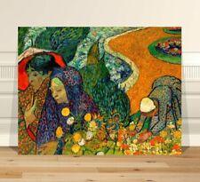 "Vincent Van Gogh Garden at Etten ~ FINE ART CANVAS PRINT 8x10"""