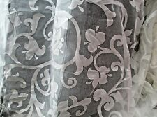 WHITE SHEER PATTERNED FABRIC- BRIDAL ETC  .10 X 5 FT AND 8 X 5 FT.