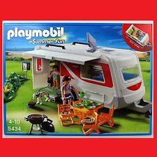 PLAYMOBIL 5434 Familien-Caravan Wohnwagen Camping Wohnmobil passt zu 5436 6671