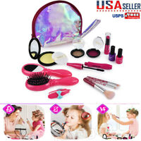 Cute Girls Make Up Toys Set Pretend Play Beauty Princess Dressing Cosmetic Bag