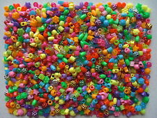 Threading pony beads mixed shapes sizes & colours 215g approx 1000 - 1100 beads