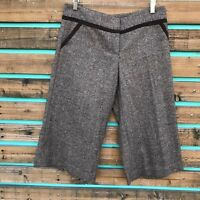 Boston Proper Sz 10 Trimmed Wool Blend Tweed Cropped Skirt Gaucho Pants NEW $158
