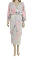ASOS CURVE Ladies Fully Embellished Midi Party Kimono Cocktail Dress UK 18 46