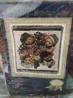 """Vintage American Weavers """"Caroling Bears"""" Christmas Tapestry 50"""" X 60"""" NOS"""