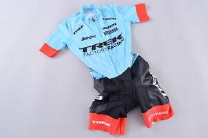 Santini Short Sleeve CX Skinsuit Women's XS Trek Factory Racing Pro Cycling