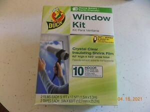 Duck Brand Indoor 10-Window Shrink Film Insulator Kit, 62-Inch x 420-Inch, NEW
