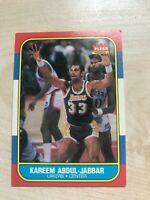 1986 Fleer Kareem Abdul-Jabbar #1 Basketball Card