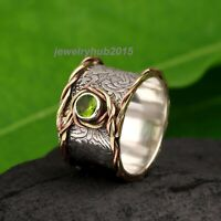 Peridot Ring 925 Sterling Silver Band Ring Meditation Women Handmade Ring 340