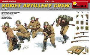 Miniart 1:3 5 Soviétique Artillerie Ras WWII Figurines Modèle Kit