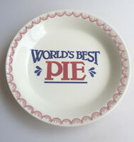 Mount Clemens Pottery World's Best Pie stoneware pie plate 10.5 in