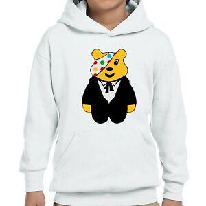 Spotty Pudsey Bear Kids Hoodies Children In Need Dotty Spot Boy Hooded Gifts