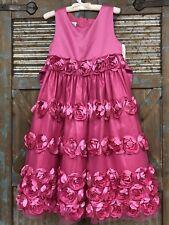 Bomnie Jean Girls Fancy Dress Pink With Flowers Sixe 6x NWT