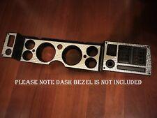 1979-1981 Camaro Z28 Dash Bezel Overlay Custom Engine Turned Swirl Aluminum