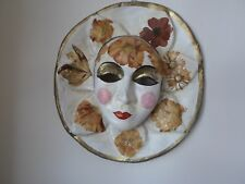 VENICE ITALY VINTAGE PAPIER MACHE MASK HAND MADE FLORAL DESIGN