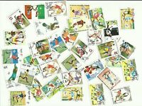 Football themed postage stamps, used x 54