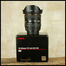 BOXED Clean Canon EOS Digital Sigma 10 20mm EX DC HSM Ultra Wide Zoom + Hood
