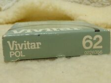 Used 62mm Vivitar Polarizer filter PL Thin Japan unmarked linear