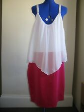 LILI LONDON DRESS PINK MIX UK SIZE 24 ANNIE WEDDINGS PARTY PROM BRIDESMAID