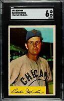 1954 Bowman #61 Eddie Miksis .954/.962 Field Average Chicago Cubs SGC 6 EX - NM