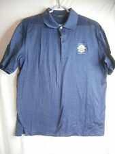 Whistling Straits Golf Polo Shirt Bobby Jones Men's Sz M Blue 100% cotton embroi