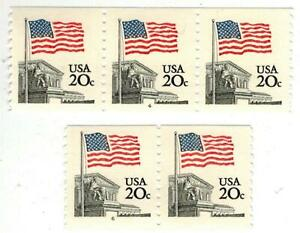 MINT PNC Plate # Coil SET OF 2 FLAG OVER WHITE HOUSE 1895A #4 + #6 Has 2 Diff