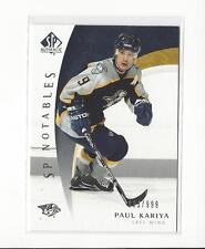 2005-06 SP Authentic #112 Paul Kariya Predators /999
