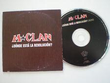 M-CLAN Donde Esta La Revolucion SPAIN PROM0 CD-SINGLE 1997 NM