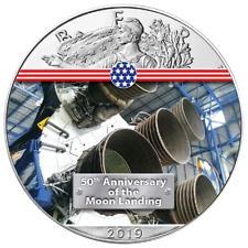 Silber Eagle Engine Saturn V Mondlandung 1 OZ Unze Ounce Silver 2019 USA