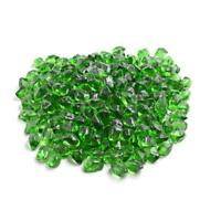 "Green 1/2"" Polygon Fire Glass for Natural or Propane Fire Pit, Fireplace 10 lb"