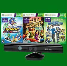 Kinect Bundle 3 Games Microsoft Xbox 360 Motion Sensor