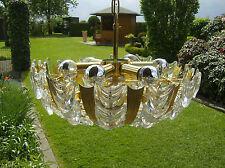 50er KRONLEUCHTER mid century Lüster vintage  PALWA Chandelier 6 light vergoldet