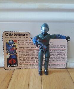 Vintage Hasbro GI Joe v1.5 Cobra Commander Swivel Arm Figure 82-83 w/Gun & Card