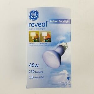 GE Reveal 45w Indoor Floodlight Directional R20 Bulb 73439