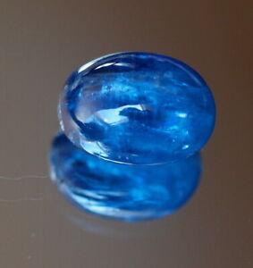 Kyanit oval Cabochon 8,16 ct Kornblumenblau blau  6,5 x 9,2 x 12,2 mm