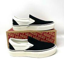 Vans Slip-on Platform Surf Supply Karina Black Canvas Sneaker Mens VN0A3MVC4XY