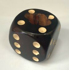 "ANTIQUE DARK CHERRY RED 1"" BAKELITE AMBER DICE"