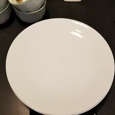 "2 Salad Bowls Winter Frost White Livingware 2 Count 8.5"" Vitrelle Glass"