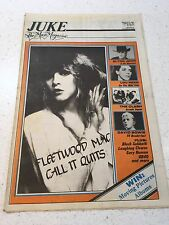 JUKE MAGAZINE NO.361 & 362 FLEETWOOD MAC THE CLASH DAVID BOWIE BOOMTOWN RATS