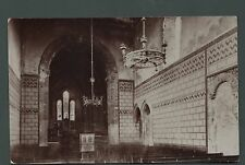 St Marys Church Dover Castle Kent old RP postcard Windows collection box   r23a
