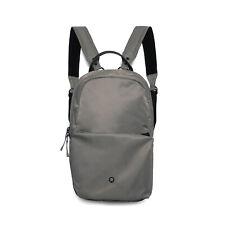 Stighlorgan Logan Laptop Backpack In Concrete Grey HD210D Nylon With Zip Pocket