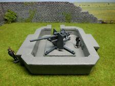 8.8er Flak in Beton-Stellung der Wehrmacht, WWII, Deutsches Reich