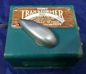 LOUIS MARX HOBBY TRANSFORMER #1239 - 50 WATT - HO SCALE Power Pack.  - VINTAGE