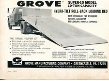 1969 Dealer Print Ad of Walter Kidde Grove Super 10 Hydra-Tilt Loading Truck Bed