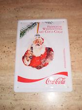 """Blechschild Coca Cola Weihnachten """"Fröhliche Weihnachten mit Coca-Cola"""" nagelneu"""